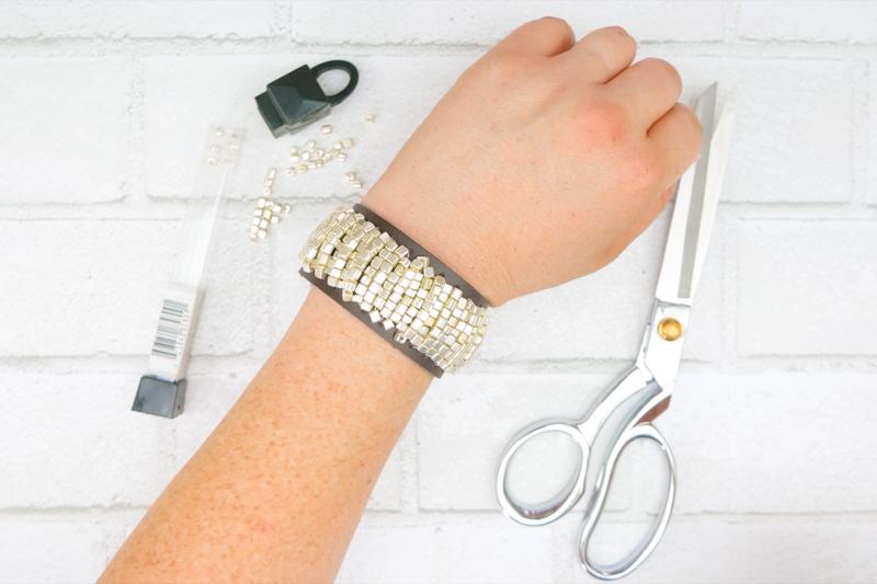 DIY Bracelet Tutorial: Boho Beaded Cuff