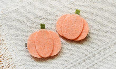 DIY Halloween Hair Clips: Felt Pumpkins