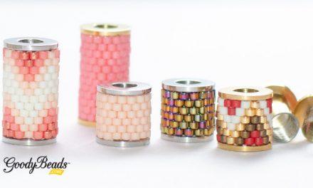 DIY Beadable Column Bead with Twist Off Bezel FREE Pattern Template