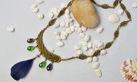 Beebeecraft DIY- How to Make Tibetan Style Feather Pendant Necklace with Drop Glass Beads