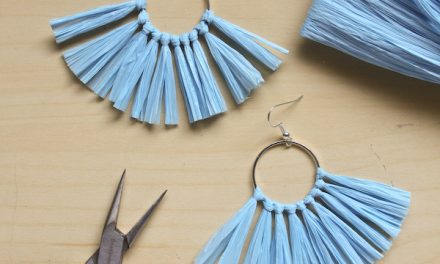 Raffia Tassel Earring DIY – Make and Fable