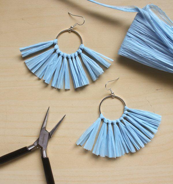 Raffia Tassel Earring DIY – Make and Fable