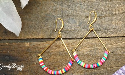 DIY Summer Vinyl Bead Earrings