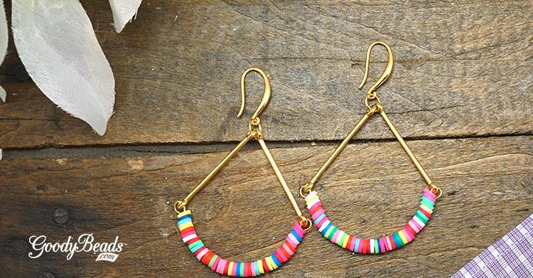 DIY Summer Vinyl Bead Earrings