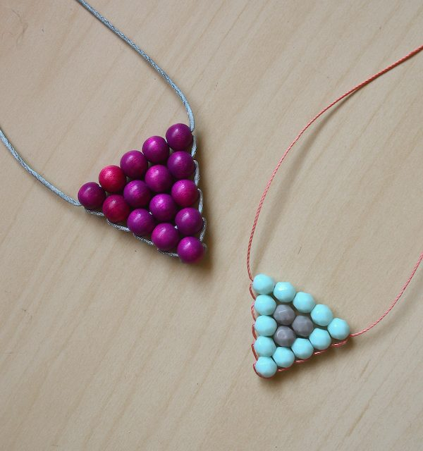 DIY Triangle Necklace – Make and Fable