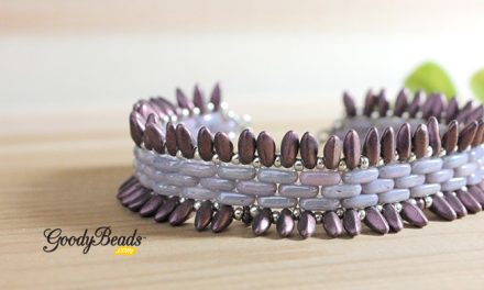 DIY Jagged Dagger Bracelet with Cymbal Alona Bead Ending
