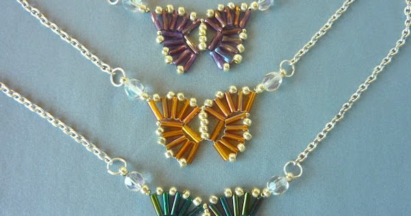 Clever Bugle Bead Butterfly Pendant Tutorial