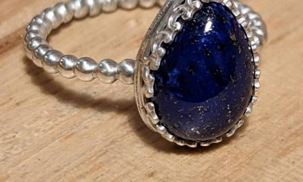 Just finished making this Lapis Lazuli stackable ring, what do you think?
