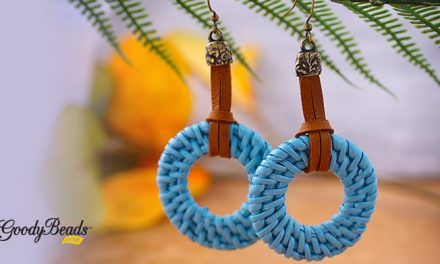 DIY Blue-Blue Straw Earrings with Deerskin Leather Lace –
