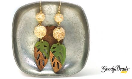 DIY Tropical Leaf Earrings with Wood & Resin Pendants –