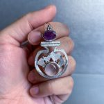 Gemstone and Love Potion Bottle Jewelry by ZebaJewelry