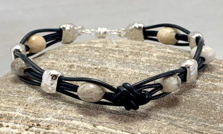 DIY Box Knot Leather Bracelet by Pat Netz –