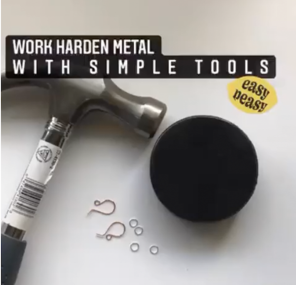 How to Work Harden Jewelry Components With Simple Tools