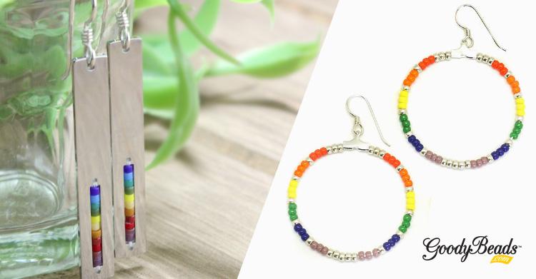 Celebrate Summer with DIY Seed Bead Rainbow Earrings –