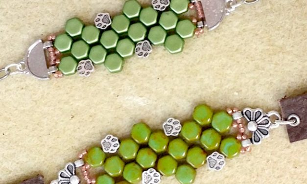 TierraCast® Paw Print Bracelet by Tracy Proctor with Patten Tutorial –