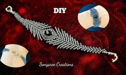 Stunning Feather Inspired Beaded Bracelet Tutorial